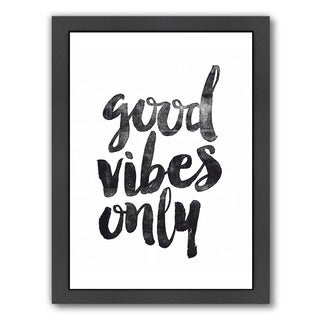 Americanflat 'Good Vibes Only' Framed Wall Art