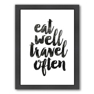 Brett Wilson 'Eat Well Travel Often' Framed Print
