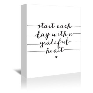 Americanflat 'Start Each Day with a Grateful Heart' Gallery Wrapped Canvas - White (4 options available)