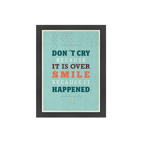 Meme Hernandez 'Cry Smile' Inspirational Framed Art Print