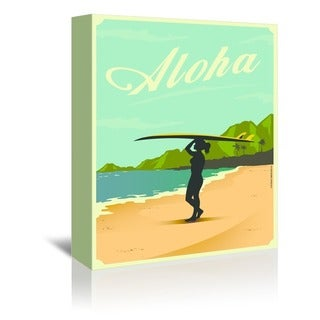 Americanflat 'Aloha' Canvas Gallery-wrapped Wall Art