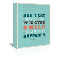 Americanflat 'Cry Smile' Gallery Wrapped Canvas - Blue