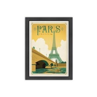 Americanflat 'Paris, France' Framed Wall Art