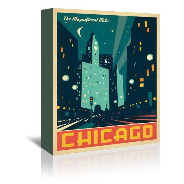 Americanflat 'Chicago: Modern Magnificent Mile' Wall Art