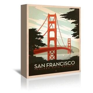'Golden Gate Bridge' Gallery-wrapped Canvas Wall Art