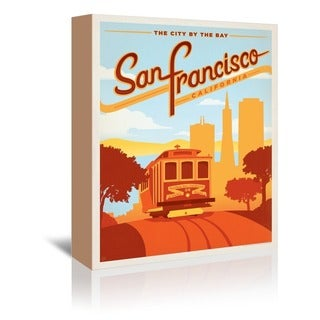 Americanflat 'San Francisco' Gallery Wrapped Canvas - Red
