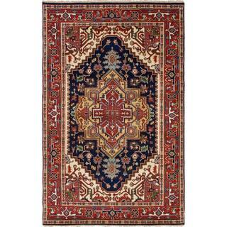 ecarpetgallery Hand-Knotted Serapi Heritage Wool Rug