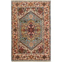 ecarpetgallery Hand-Knotted Serapi Heritage Blue Wool Rug (4'0 x 6'2 )