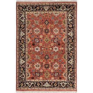 ecarpetgallery Hand-Knotted Serapi Heritage Brown Wool Rug (4'2 x 6'1 )