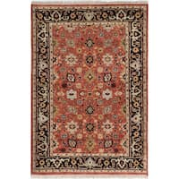 ecarpetgallery Hand-Knotted Serapi Heritage Brown Wool Rug - 4' x 6'