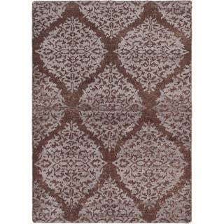 ecarpetgallery Hand-Knotted La Seda Brown Wool & Art Silk Rug (5'3 x 7'4 )