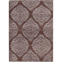 ecarpetgallery Hand-Knotted La Seda Brown Wool & Art Silk Rug (5'3 x 7'4 ) - 5'3 x 7'4