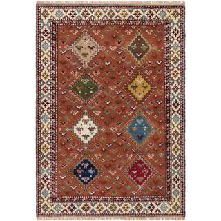 ecarpetgallery Hand-Knotted Royal Kazak Brown Wool Rug (5'4 x 7'8 )