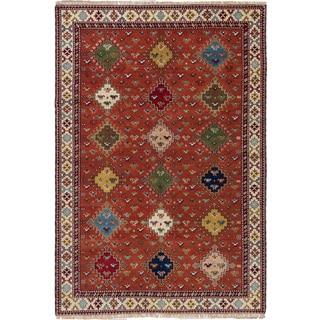 ecarpetgallery Hand-Knotted Royal Kazak Brown Wool Rug (6'6 x 9'8 )