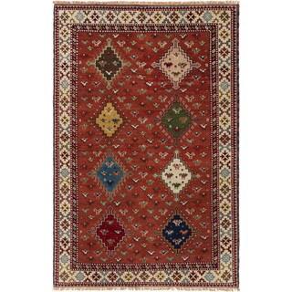 ecarpetgallery Hand-Knotted Royal Kazak Brown Wool Rug (5'3 x 8'1 )