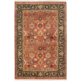ecarpetgallery Hand-Knotted Serapi Heritage Brown Wool Rug (4'2 x 6'0 )