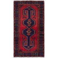 ecarpetgallery Hand-Knotted Zanjan Red   Wool Rug (4'1  x 7'2 ) - 4'1 x 7'2