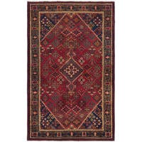 ecarpetgallery Hand-Knotted Persian Vintage Red Wool Rug (4'4 x 6'8 )