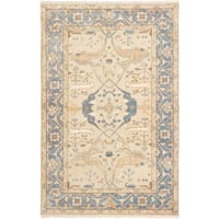 ecarpetgallery Hand-Knotted Royal Ushak Yellow Wool Rug (6'0 x 9'1 )