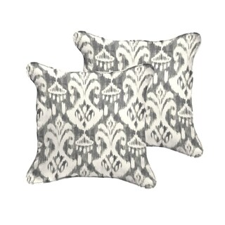 Rainford Grey/ Cream Indoor/ Outdoor Square Corded Pillow Set