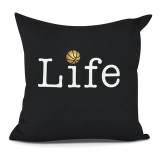Life Basketball Print Pillow