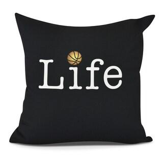 Life Basketball Print Pillow