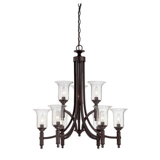 Trudy 9-Light Chandelier with Seeded Glass