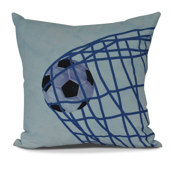 Goal! Geometric Print Pillow