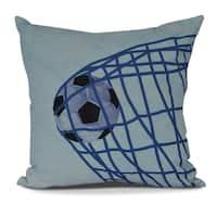 Goal! Geometric Print Pillow