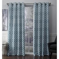 ATI Home Scrollwork Sateen Blackout Grommet Top Curtain Panel Pair