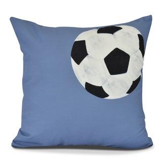 Soccer Ball Geometric Print Pillow