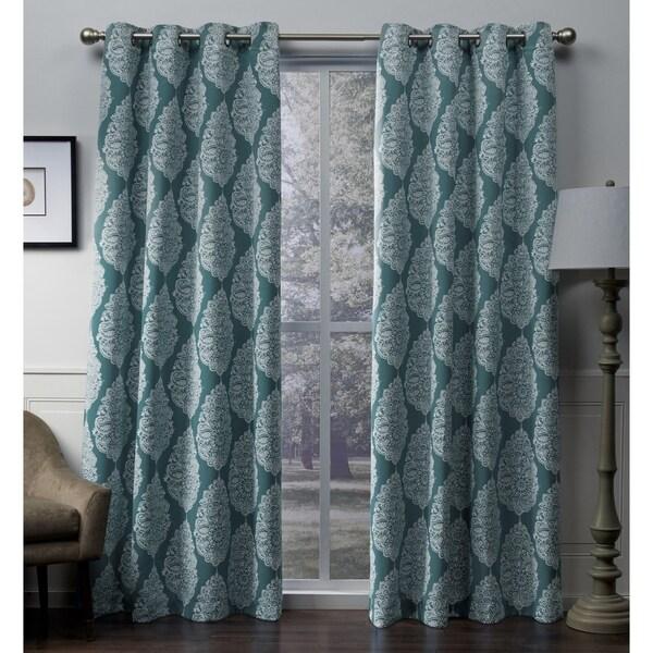 ATI Home Queensland Sateen Blackout Grommet Top Curtain Panel Pair