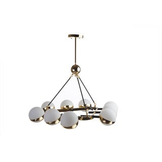 Hans Andersen Home Edith Glass and Steel Ceiling Lamp