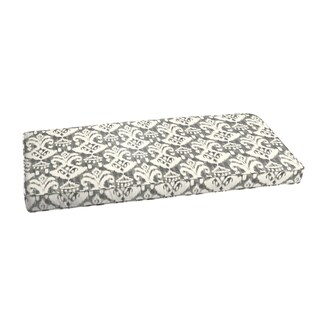 Rainford Grey/ Cream Indoor/ Outdoor Bench Corded Cushion