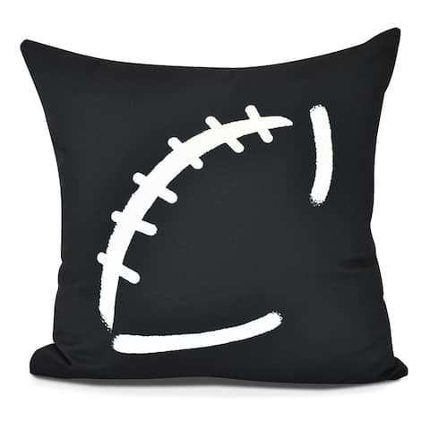 Football Geometric Print Pillow