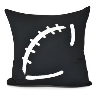 Football Geometric Print Pillow