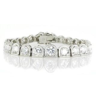 Michael Valitutti Palladium Silver Round Cubic Zirconia Bracelet