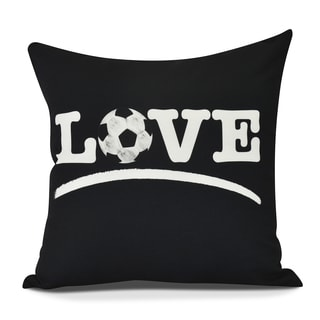 Love Soccer Word Print Pillow