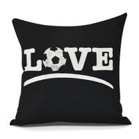 Love Soccer Word Print Pillow