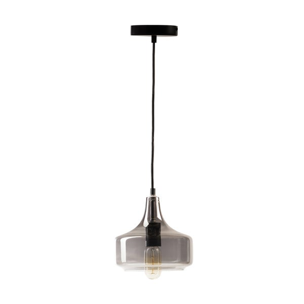 Vintage-inspired Small Pendant Lamp With Vintage Bulb