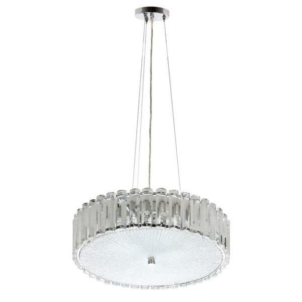6-Light Crystal-Embedded Chandelier