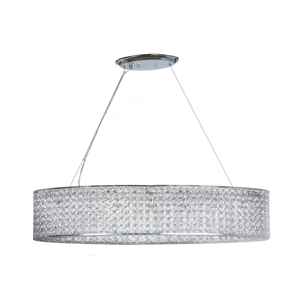 Chrome/Crystal Circles Oval-shaped Chandelier