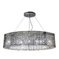 Chrome and Crystal Suaree Oblong Chandelier