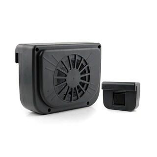 Cool Breeze Black Solar-powered Car Window Fan