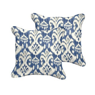 Rainford II Indigo/ Cream Indoor/ Outdoor Square Corded Pillow Set
