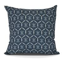 Tufted Geometric Print Pillow