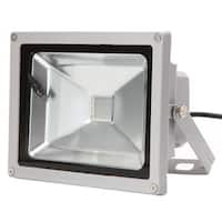 20W RGB Aluminium Alloy LED Flood Light with IP65 Waterproof & Remote Control Gray (AC 90-260V)