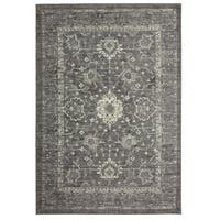 Copper Grove Montecristo Distressed Patina Grey Traditional Area Rug - 2'6 x 3'9
