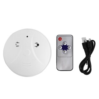 Smoke Detector Card Slot Security DVR Remote HD Camera Motion Detection Nanny