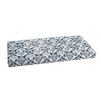 Rainford II Indigo/ Cream Indoor/ Outdoor Bench Corded Cushion